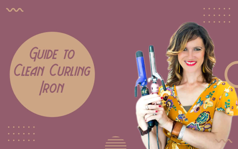 how to clean a curling iron
